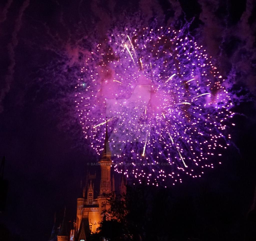 Castle Fireworks 7 by BadInfluenceSpeaks