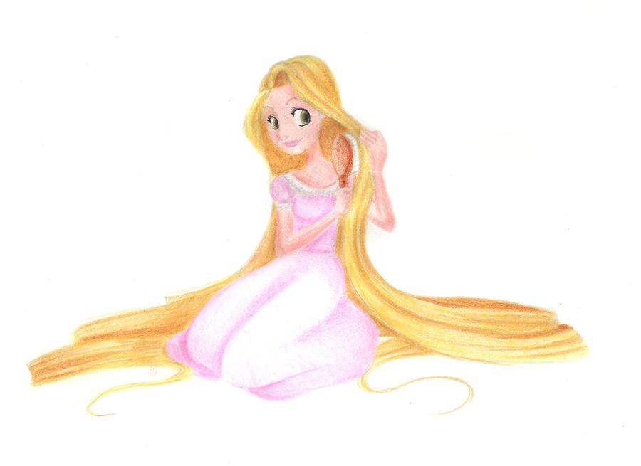 Rapunzel Brushing My Hair By Thesilke On Deviantart