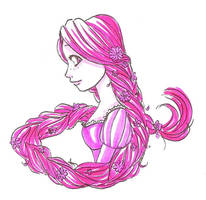 Pink Rapunzel by ThEsIlKe