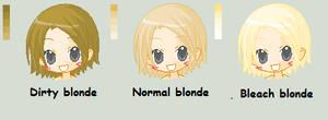 Blonde color pallet