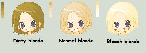 Blonde Color Pallet By Tomiphantom On Deviantart