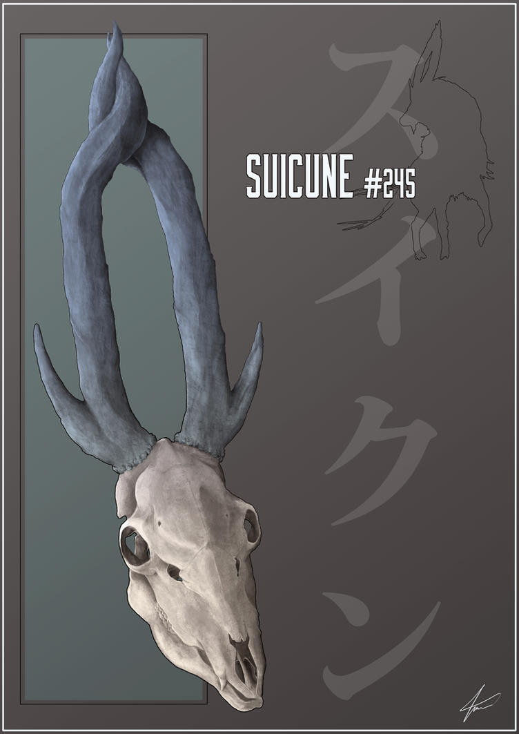 Suicune 245 realistic pokemon skull study by tinowalter on