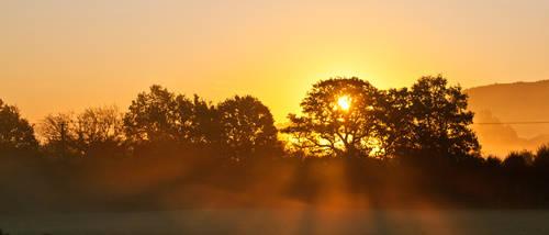 Autumn Sunrise by flatproduct