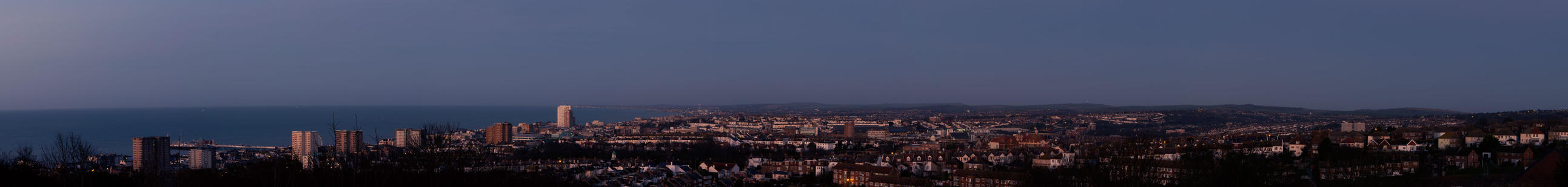 Brighton AM panorama by flatproduct