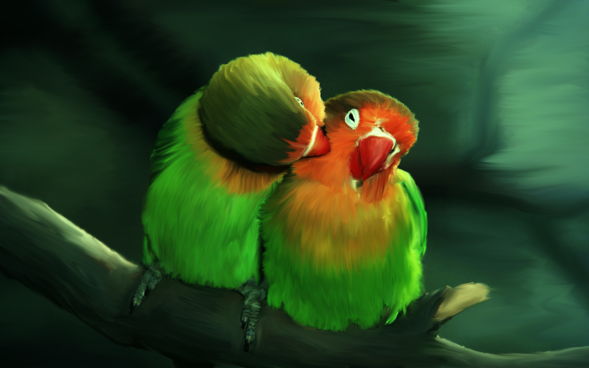 Love birds by Love-Hinaa