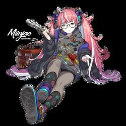 Render:  Mechanical girl by MiinJae