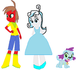 Request-EQG Cinder, Snow Belle and Sapphire