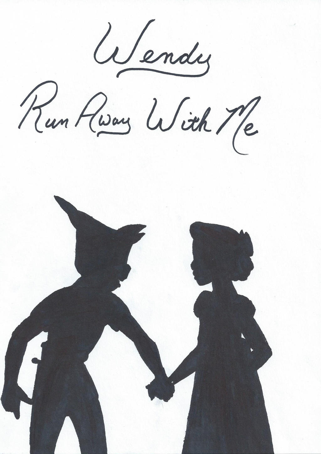 Peter Pan And Wendy Tumblr Black And White