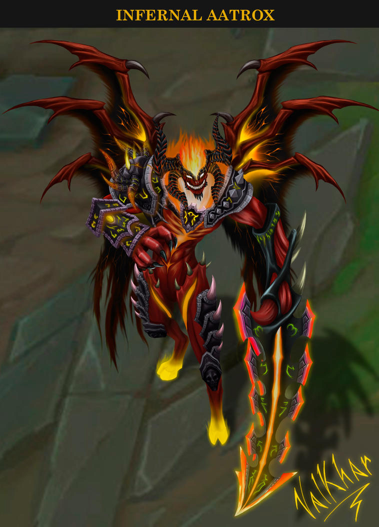 Infernal Aatrox By Valkhar On Deviantart