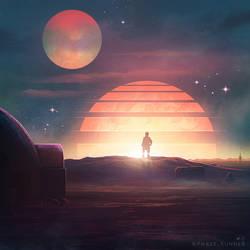 Binary Sunset