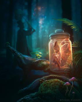 Catching Fairies - Photoshop Art