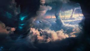Tornado Escape - Photoshop Art