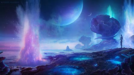 Avatar Pandora Oceanscape - Photoshop Art