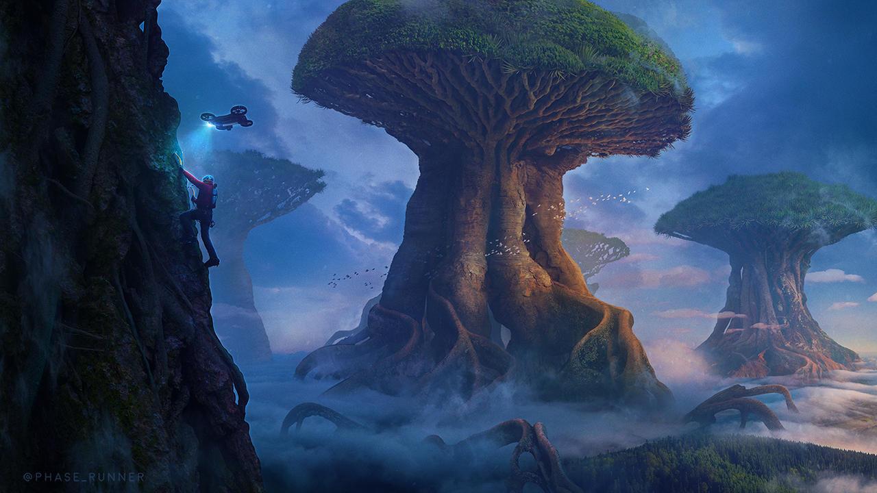 Giant Elder Trees - Photoshop Art