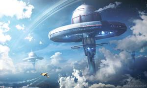 Cloud Station - Photoshop Art