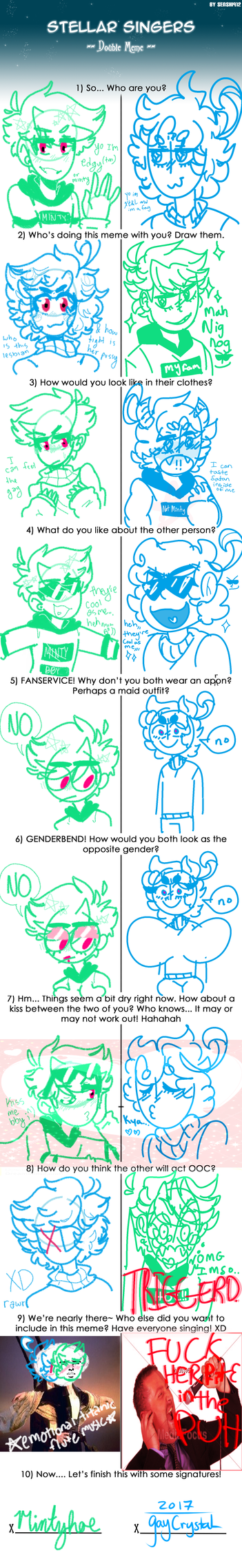 doubl meme with a fagot by gaycrystal