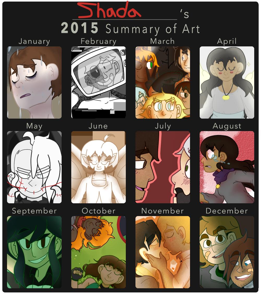 2015 Summary of Art by ShadaIsHungry on DeviantArt