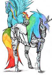 Tripple rainbow! by iceywolfheart