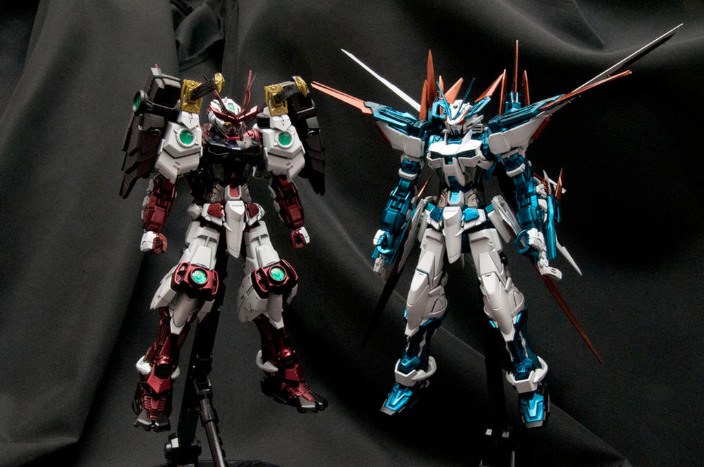 Bandai MG 1/100 Gundam Astray Blue Frame D by psychodynamix