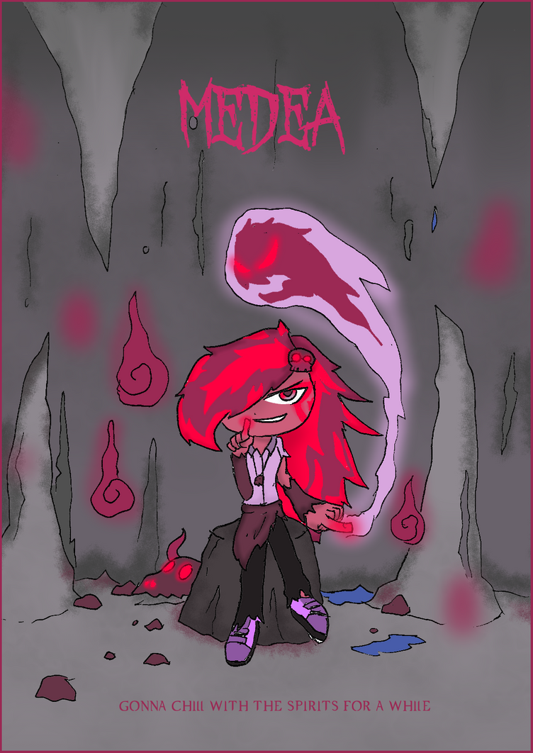 OC release: Medea, the young snobbish witch by BlueTide1410