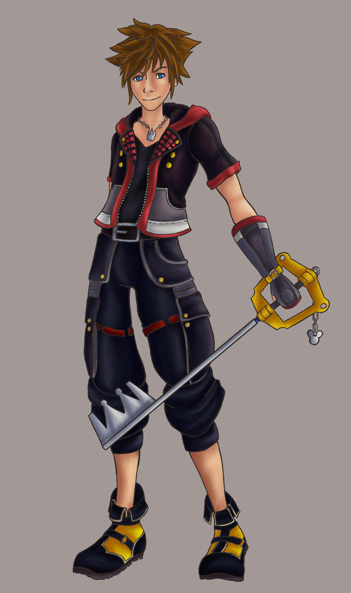 Sora Kingdom Hearts 3 By PhantomTsubasa