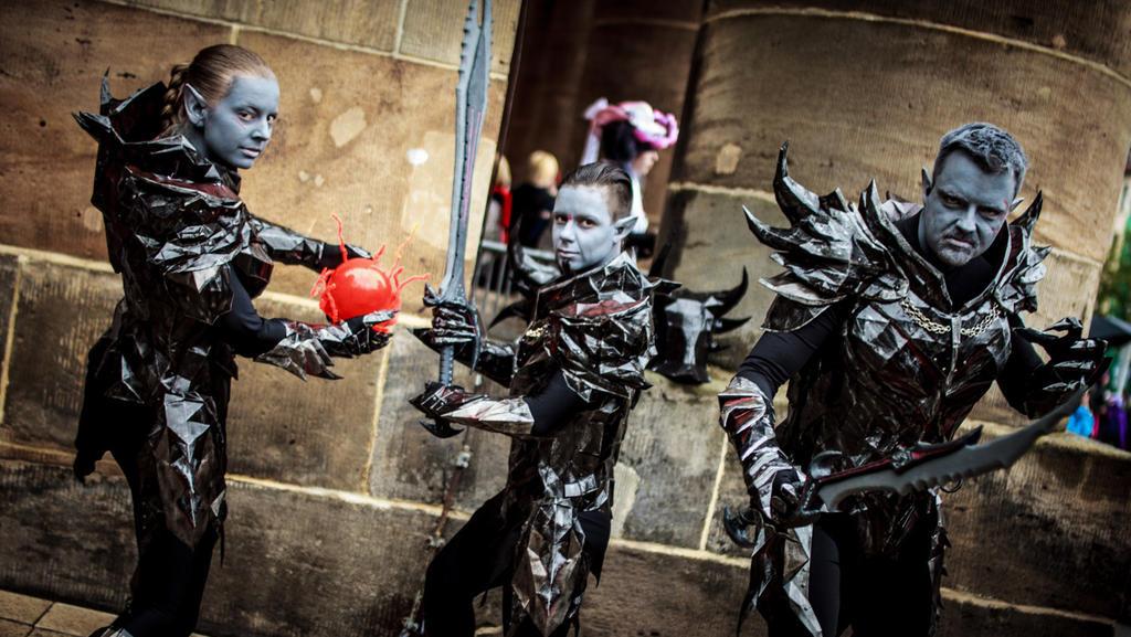 Dark Elves, Daedra Warrior by ascott83