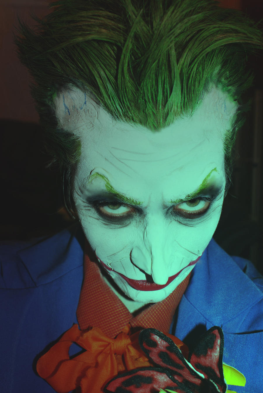 Female joker makeup