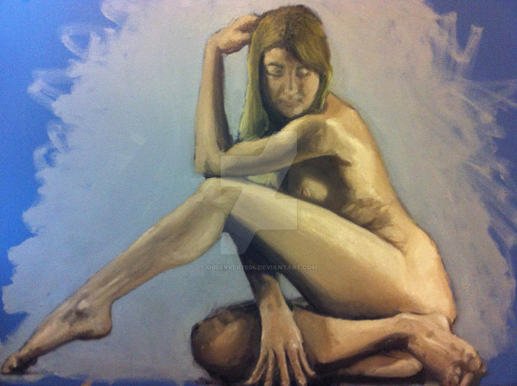 Unfinished Oil Painting Female Figure By OBSERVER7604