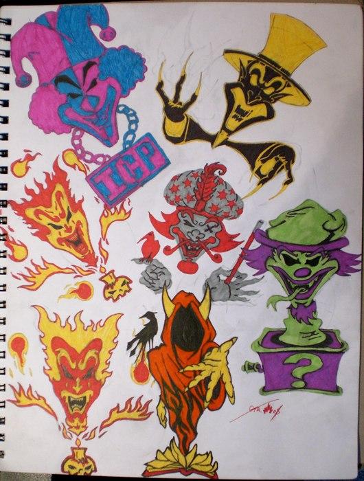 ICP Joker Cards by FyreDragonQueenIcp Joker Card Drawings