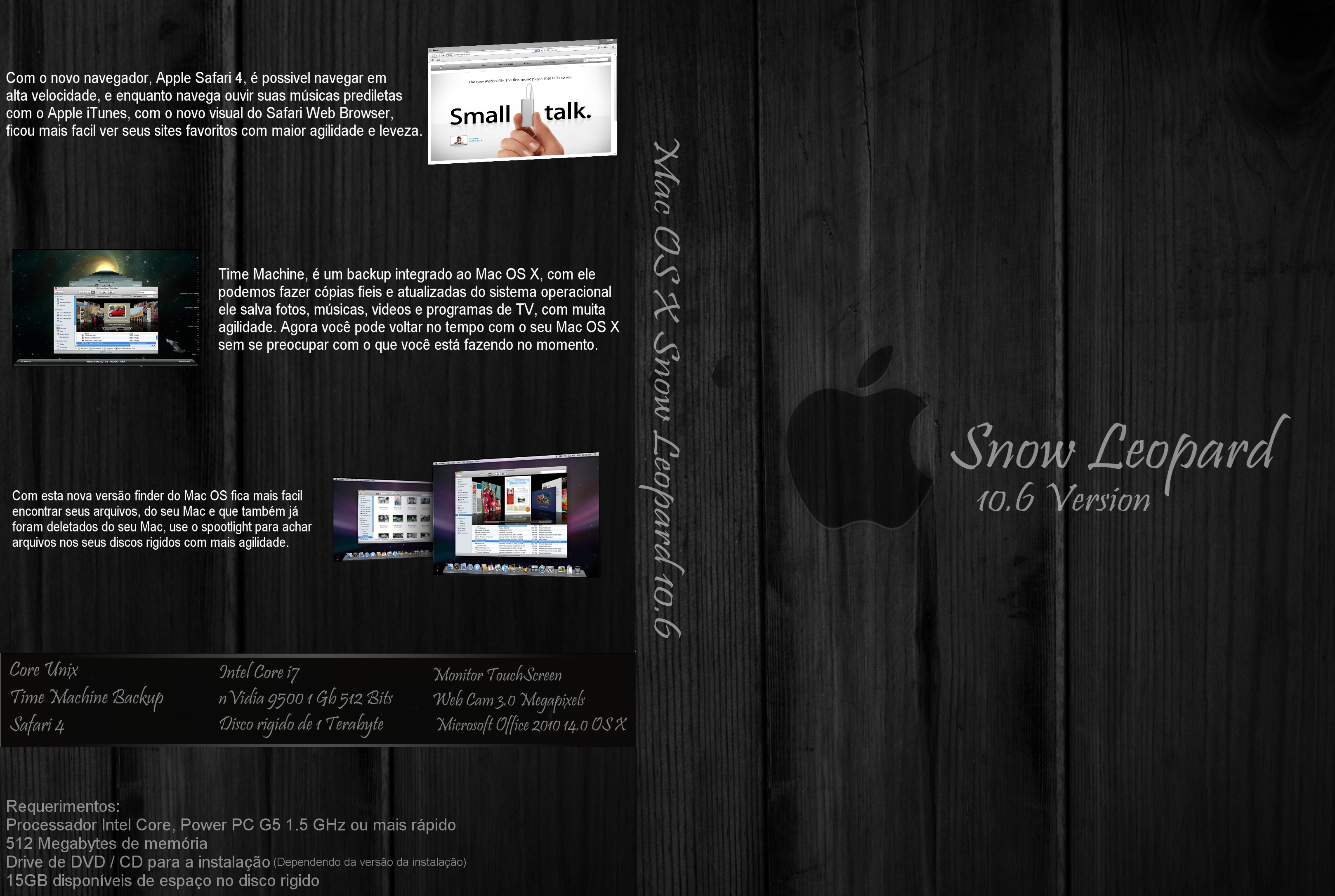 Mac OS X Snow Leopard 10.6 Box by feliipetaumaturgo