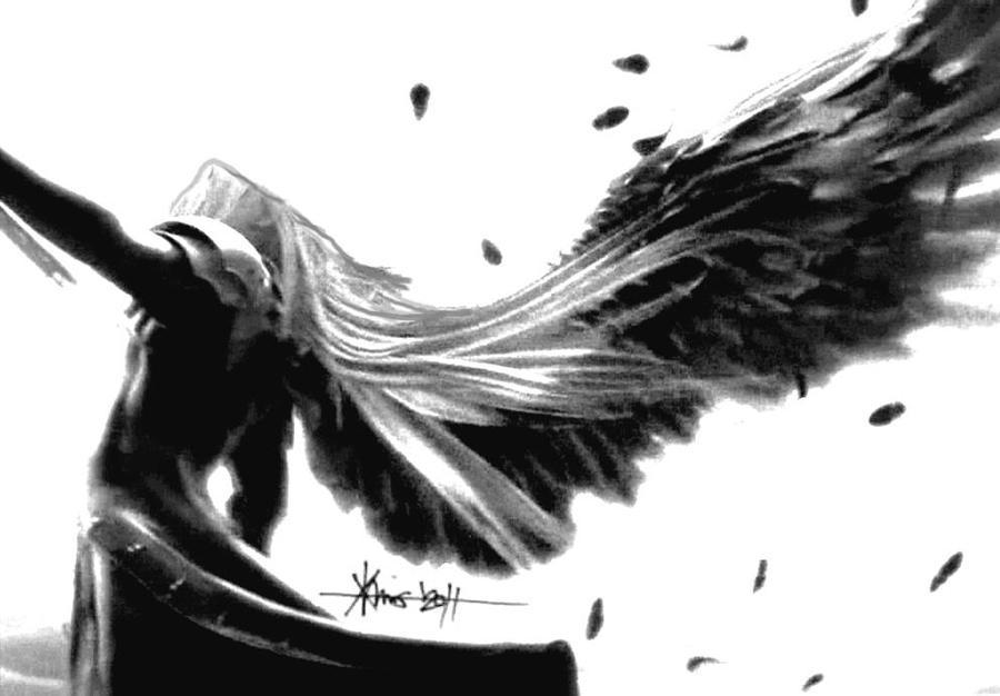 Sephiroth Wing ff7: sephiroth by irvi...