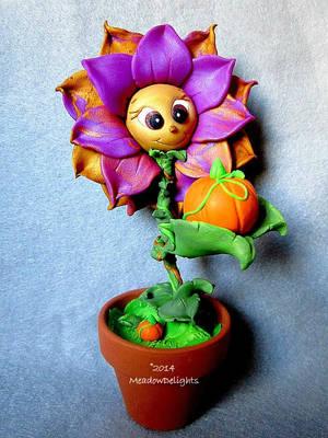 Pumpkin Pickin' Flower by MyArtsDelight