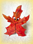 Happy Autumn Leaf! by MyArtsDelight