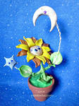 Sun, Moon and Stars Flower by MyArtsDelight