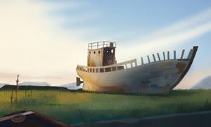 Old forgotten ship