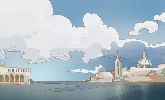 Clouds and buildings