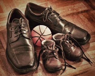 My Shoes With Daddy's by Cesaron