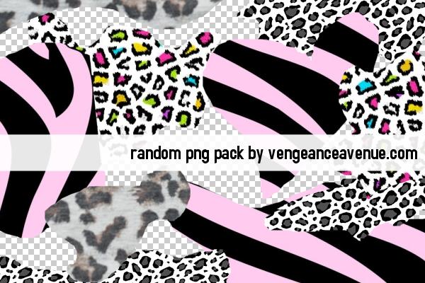 Animal Print PNGS by vengeanceavenue