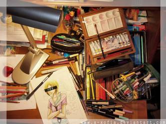 - My Desk - by A-Xofia