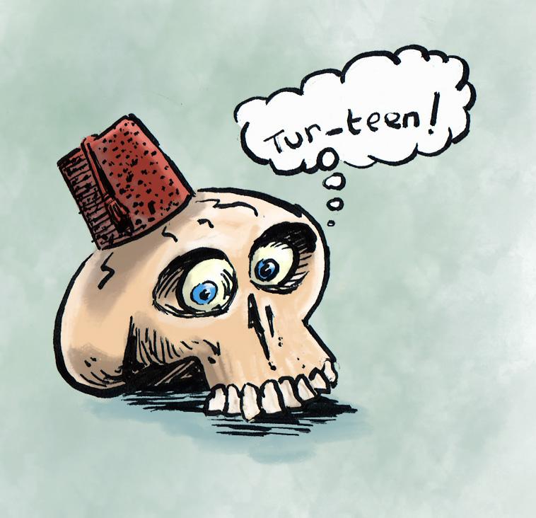 Skull Fez by nzCrow