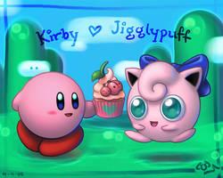 Kirby x Jigglypuff - wallpaper by K-6