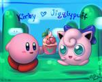 Kirby x Jigglypuff - wallpaper