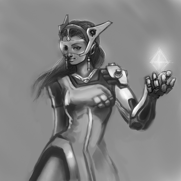 Symmetra-sketch-14june16 by izzathafiz