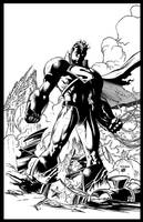 Jim Lee Crisis Superman by GothPunkDaddy