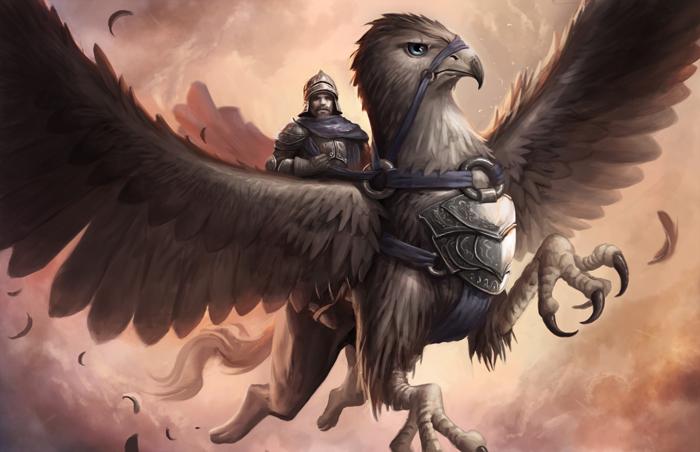 Ambientación: Ordenes militares, monásticas y gremios. Griffin_rider_by_nikolaiostertag-d8g3m6i