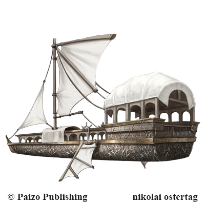 Pathfinder - Flying Skiff by NikolaiOstertag