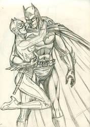 Batman Catwoman by yasinyayli