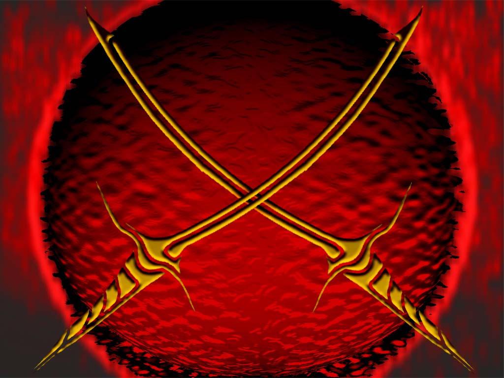 Real Crossed Swords Crossed Swords by Evilhomer145