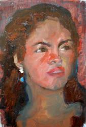 la fiera...retrato ..oil canvas by Mario7