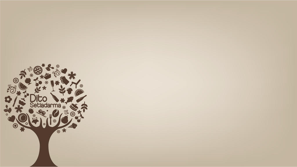 Simple Vector : Foods tree by 7Dito